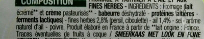 Ail et fines herbes - Ingrédients - fr