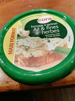 Fromage à tartiner Ail & fines herbes Maxi format - Produit