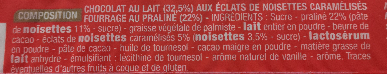 Rocher au Lait - Ingrédients - fr
