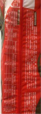Rocher au Lait - Informations nutritionnelles
