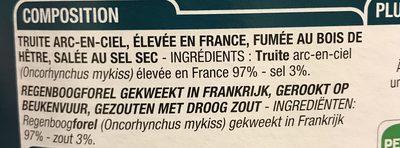 Lardons de truite - Ingredients - fr