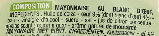 Mayonnaise fouettée au blanc d'oeuf - Ingredients