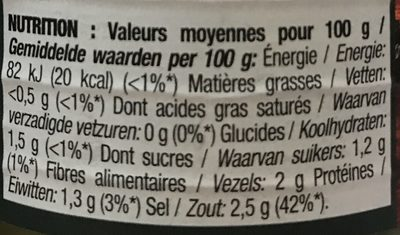 Cornichons Extra-Fins - Voedingswaarden