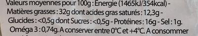 Véritable Rillettes du Mans - Informations nutritionnelles