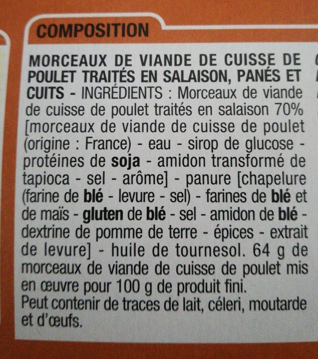 Morceaux de Poulet croustillants - Ingrédients - fr