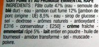 Coquillettes jambon fromage - Ingrédients - fr