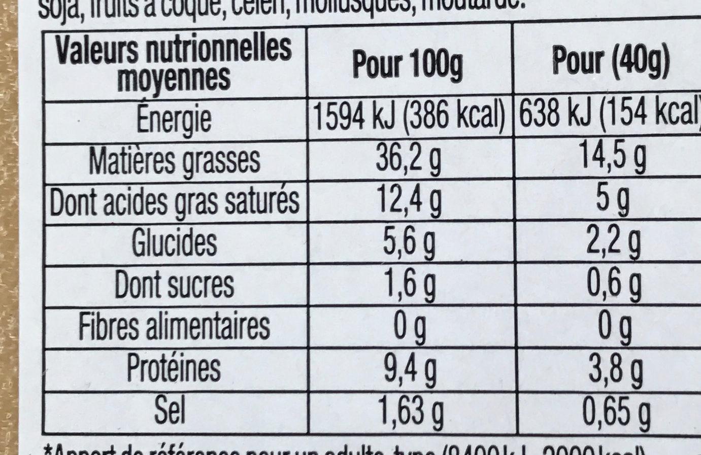 Mousse Canard au Porto - Nutrition facts