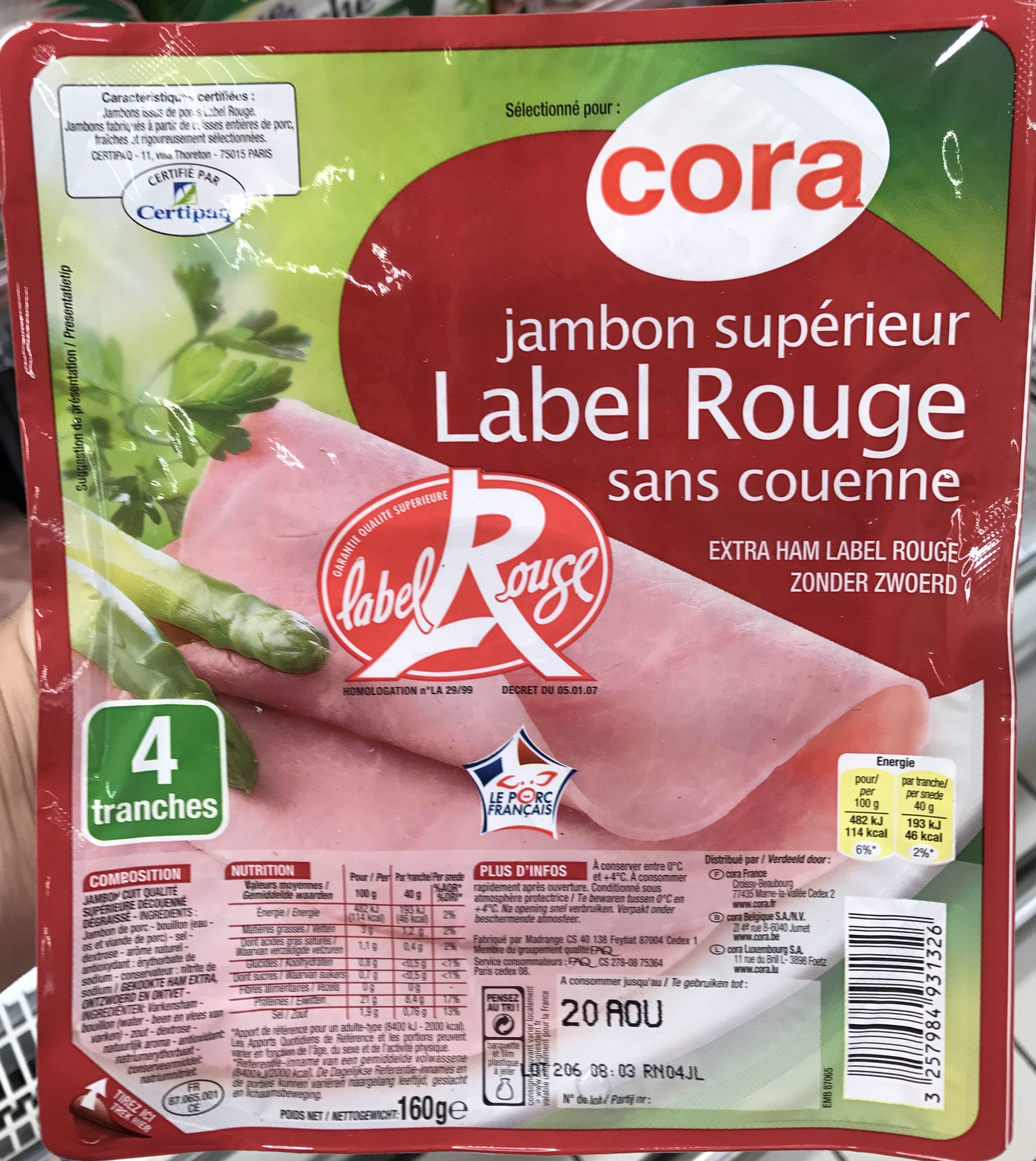 Jambon supérieur Label Rouge sans couenne - Produit