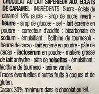 Chocolat au Lait Éclats de Caramel - Ingredients