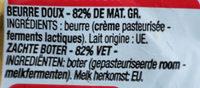 Beurre doux cora - Ingrediënten - fr