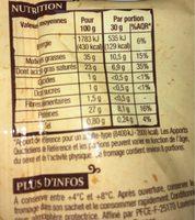 Comte - Nutrition facts - fr