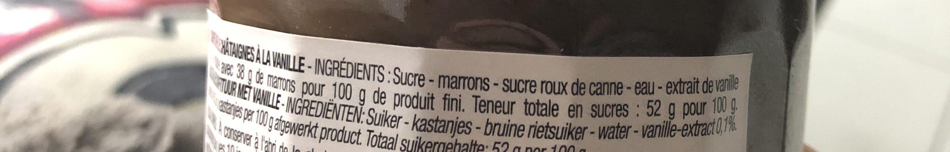 Confiture de chataigne vanille - Ingrédients - fr