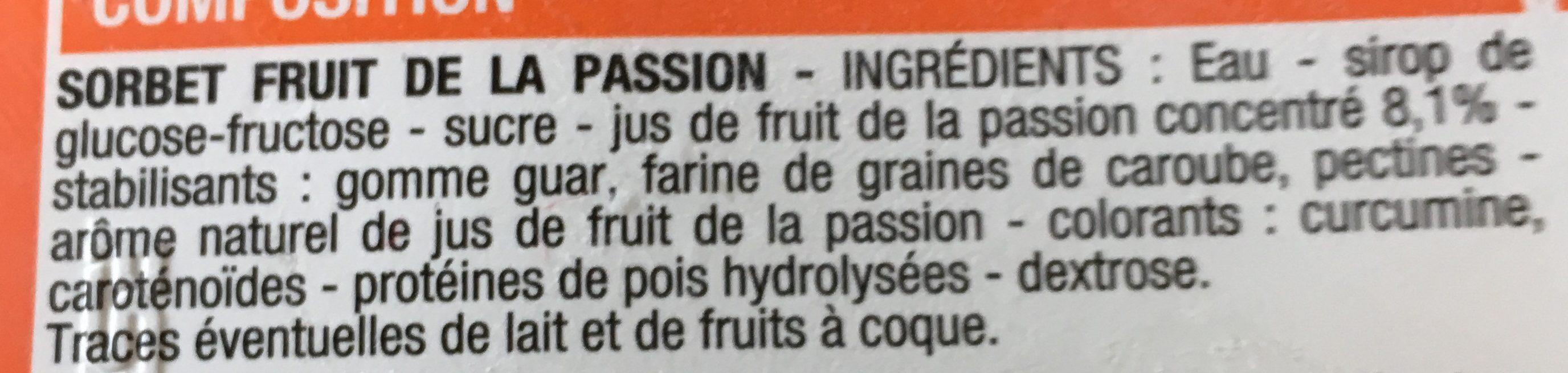 Sorbet - Ingrédients - fr