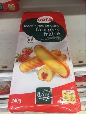 Madeleines Longues Fourrées Fraise - Produit - fr