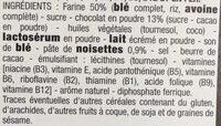 Fourrées tout choco - Ingrédients - fr