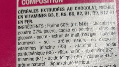 Riz soufflé chocolat - Ingrédients - fr
