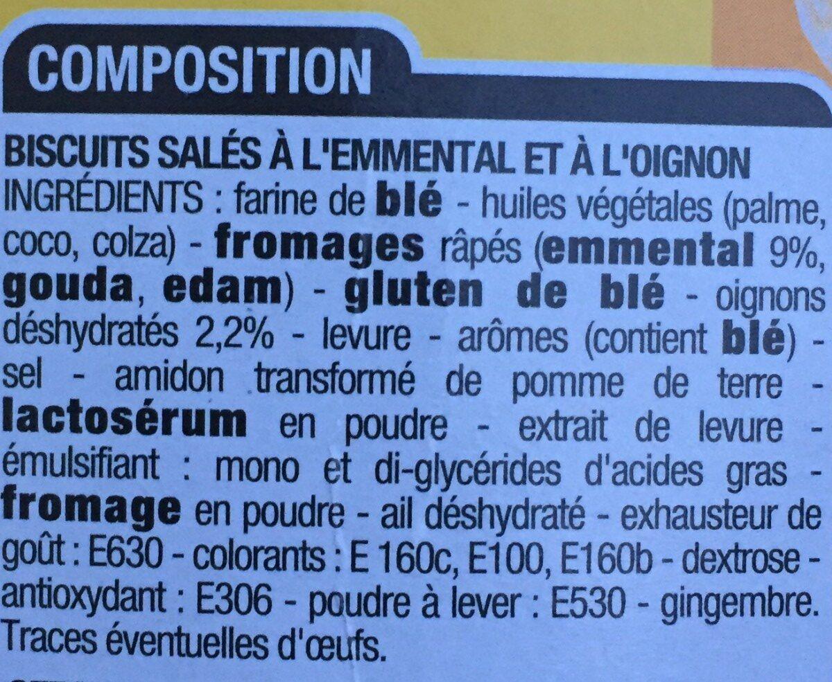 Crackers emmental oignon - Ingredients