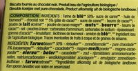 Goûters fourrés Chocolat noir - Ingredients