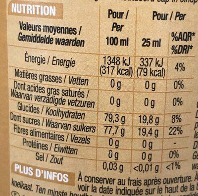 Sirop de poire - Informations nutritionnelles - fr