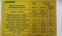 Orange nectar à base de concentré - Nutrition facts