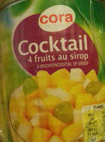 Cocktail 4 fruits au sirop - Product