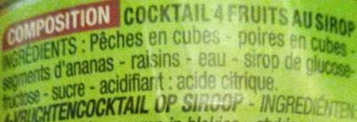 Cocktail 4 fruits au sirop - Ingrediënten