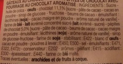 Mini brownies chocolat pépites - Ingredients