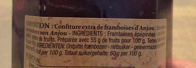 Confiture extra framboise d'Anjou - Ingrédients - fr