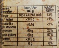 Confiture extra framboise d'Anjou - Informations nutritionnelles - fr