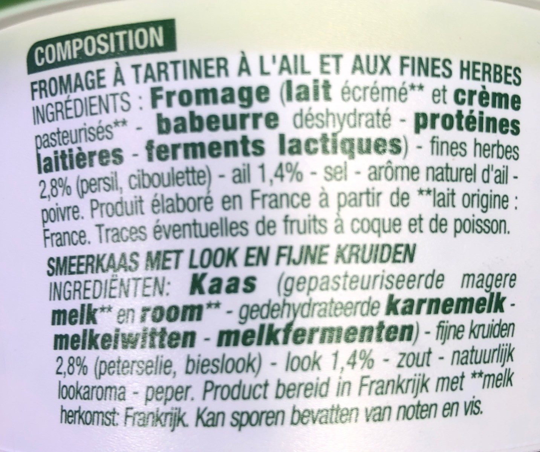 Ail et fines herbes - Ingredients - fr