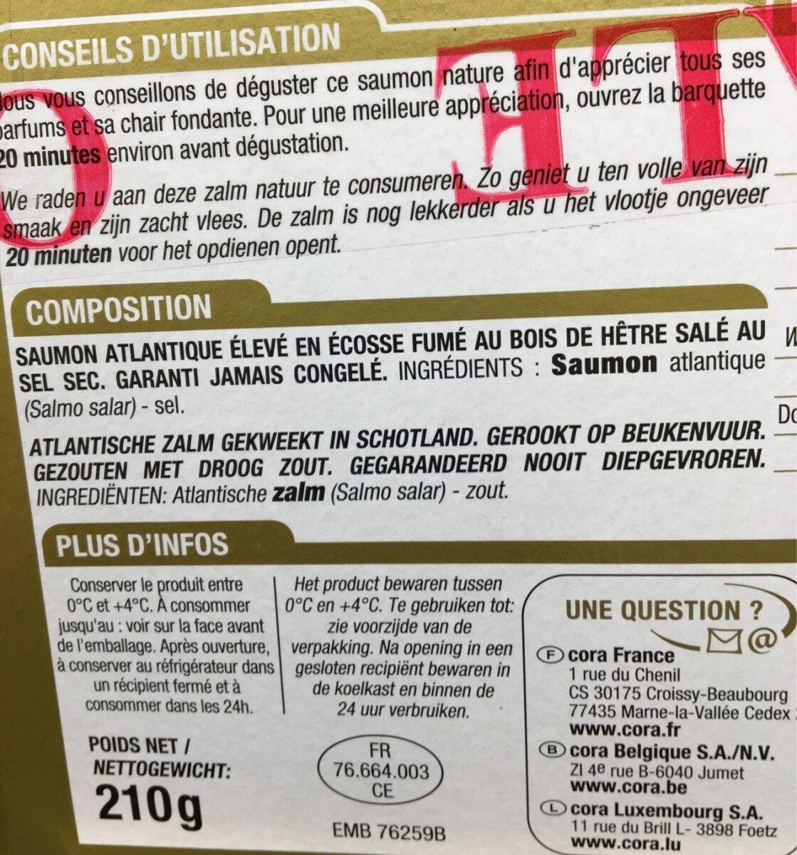 Saumon fume ecosse - Ingredients - fr