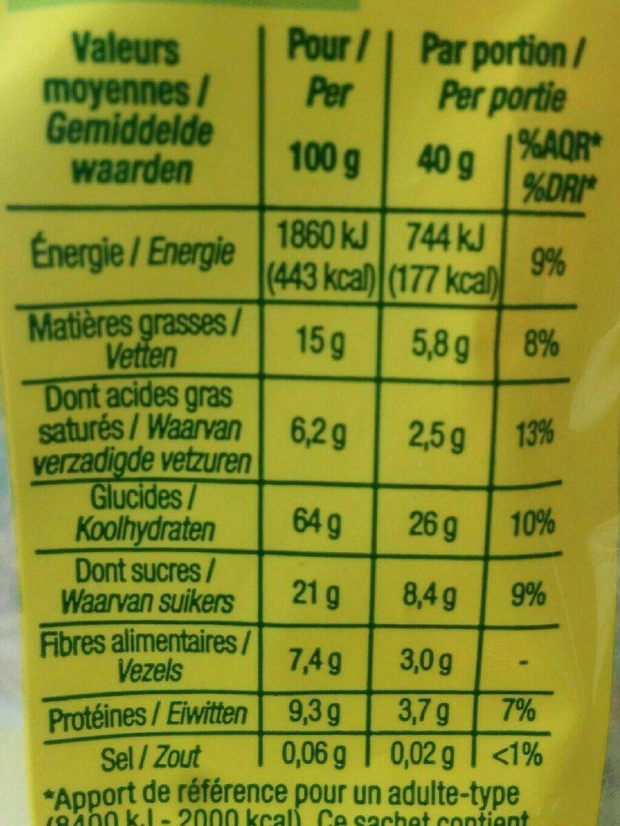 Muesli croustillant tout chocolat - Informations nutritionnelles - fr
