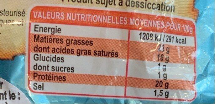 Fromage Au Lait De Chèvre Pasteurisé - Voedingswaarden - fr