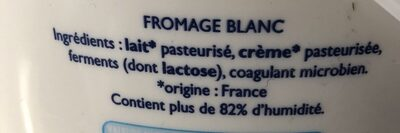 Fromage blanc - Ingrédients - fr