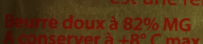 Beurre A.O.P Charentes-Poitou Doux - Ingredients