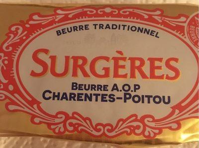 Beurre AOP Charentes-Poitou - Produit