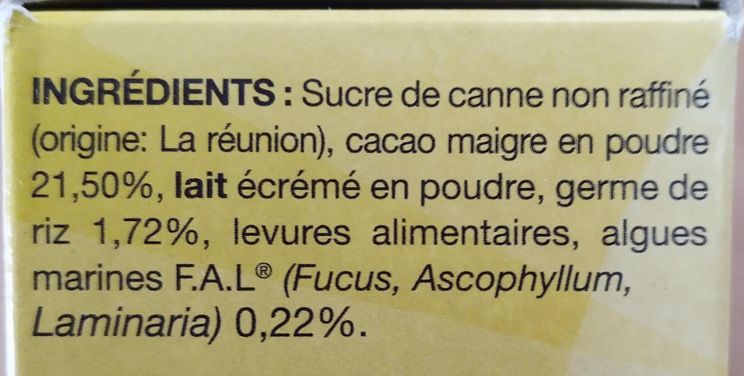 Cao au cacao maigre - Ingrediënten - fr