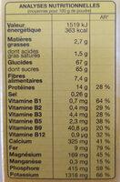 Cao au cacao maigre - Voedingswaarden - fr
