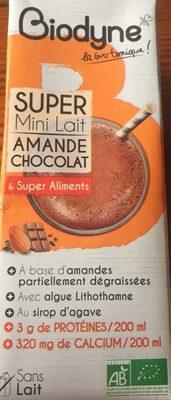 Super mini lait amande chocolat & super aliments - Produit