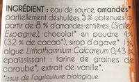 Super mini lait amande chocolat & super aliments - Ingrédients