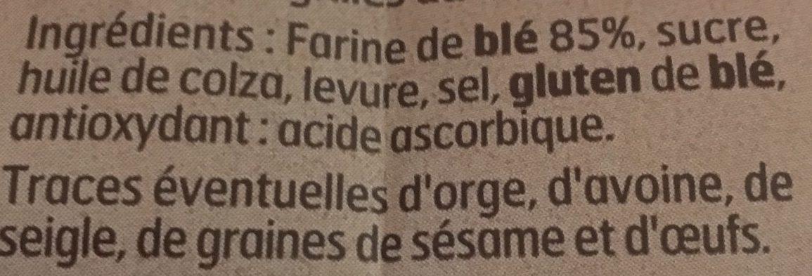 Petits Pains Grillés au Froment - Ingrediënten