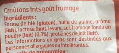 Croûtons goût fromage - Ingrediënten