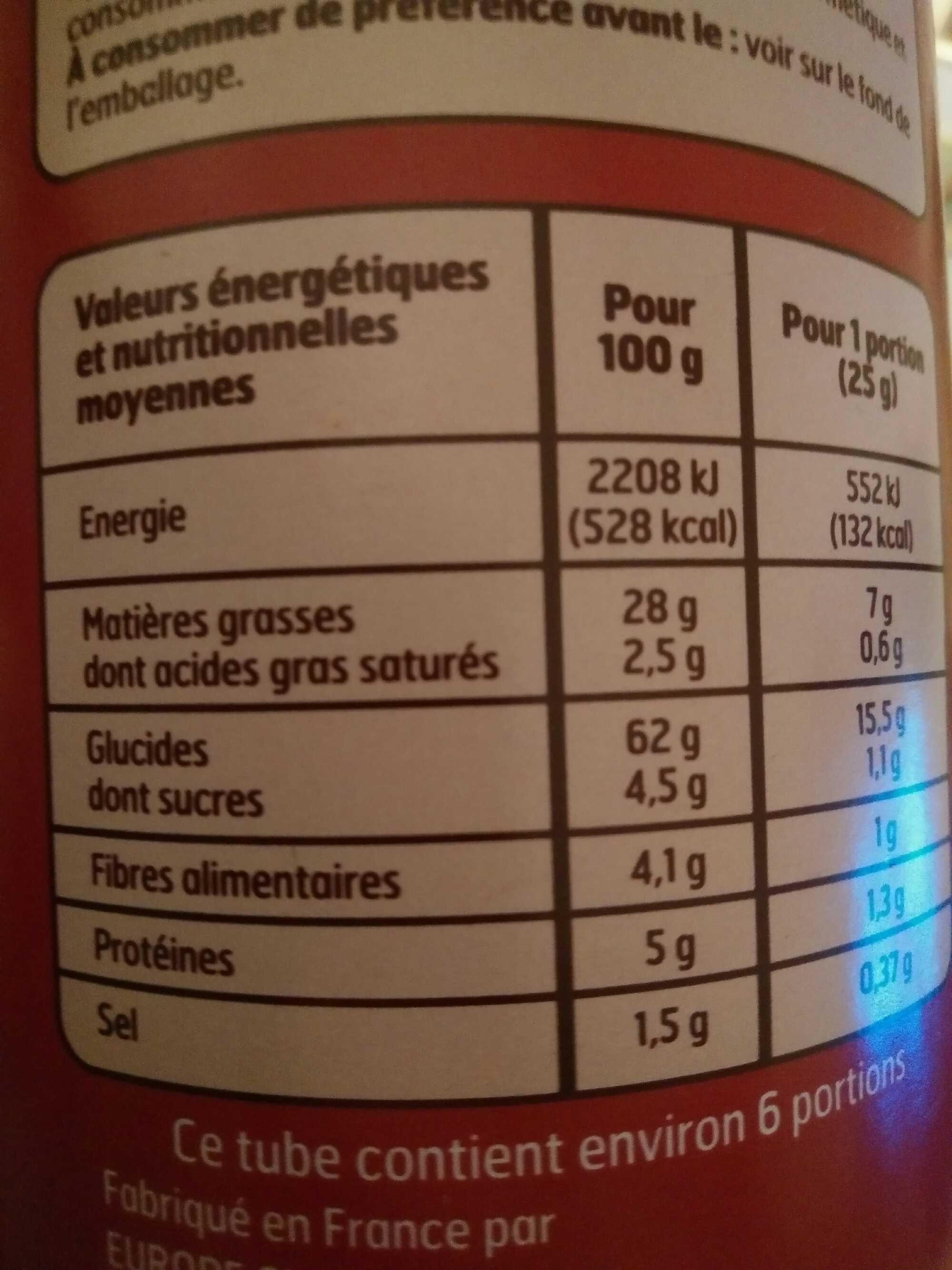 Tuiles goût Paprika - Informations nutritionnelles - fr