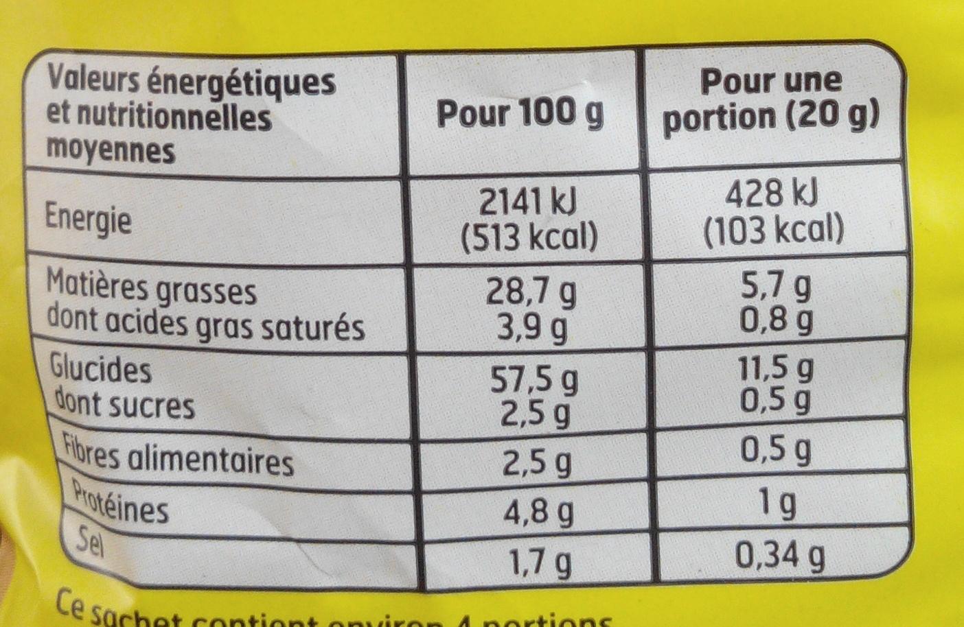 Croustillants fromage - Informations nutritionnelles - fr