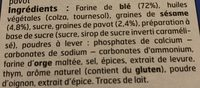 Crackers Triangle - Ingrediënten - fr