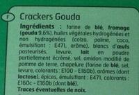 Crackers Gouda - Ingrédients - fr