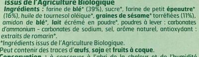 Biscuit epeautre et sesame - Ingrédients - fr
