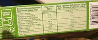 Biscuit epeautre et sesame - Informations nutritionnelles - fr