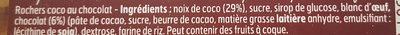Rochers Coco au Chocolat - Ingrédients - fr