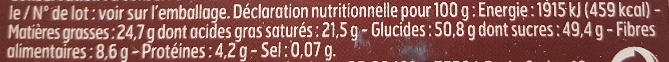 Rochers Coco au Chocolat - Informations nutritionnelles - fr